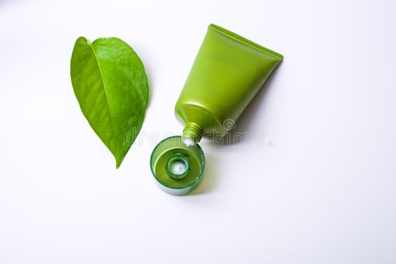 Πράσινο καλλυντικό στοκ φωτογραφία με δικαίωμα ελεύθερης χρήσης