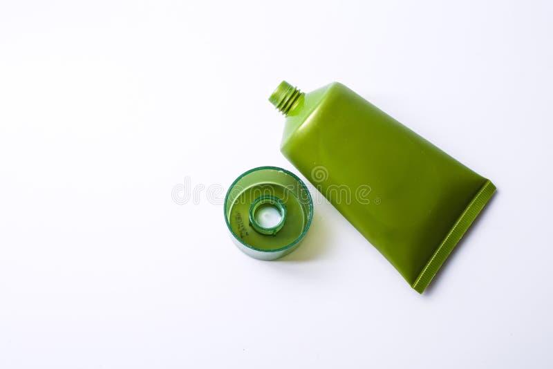 Πράσινο καλλυντικό στοκ εικόνες