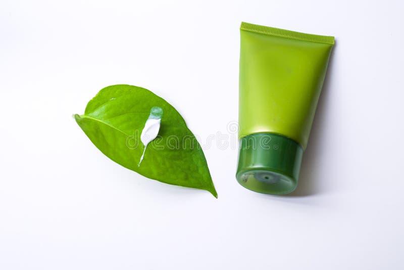 Πράσινο καλλυντικό στοκ φωτογραφίες