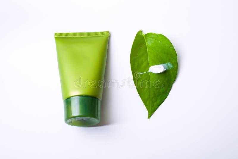 Πράσινο καλλυντικό στοκ εικόνα