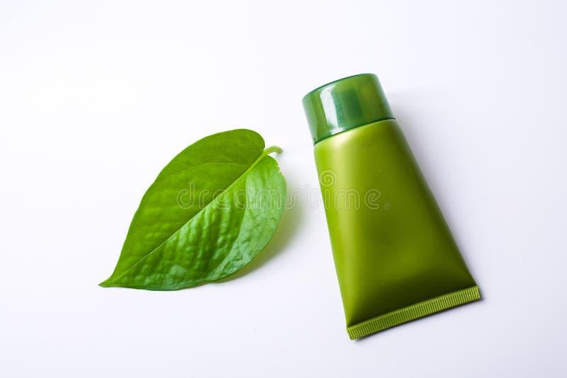 Πράσινο καλλυντικό στοκ εικόνες με δικαίωμα ελεύθερης χρήσης