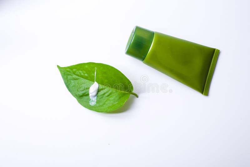 Πράσινο καλλυντικό στοκ φωτογραφία