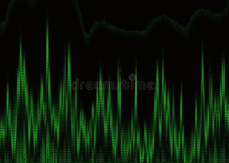 Πράσινο καρδιογράφημα καρδιών στην οθόνη οργάνων ελέγχου απεικόνιση αποθεμάτων