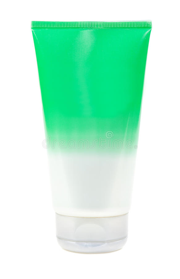 Πράσινο καλλυντικό μπουκάλι στοκ φωτογραφία με δικαίωμα ελεύθερης χρήσης