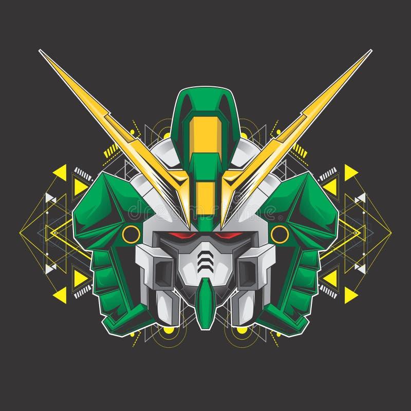 Πράσινο κεφάλι gundam απεικόνιση αποθεμάτων
