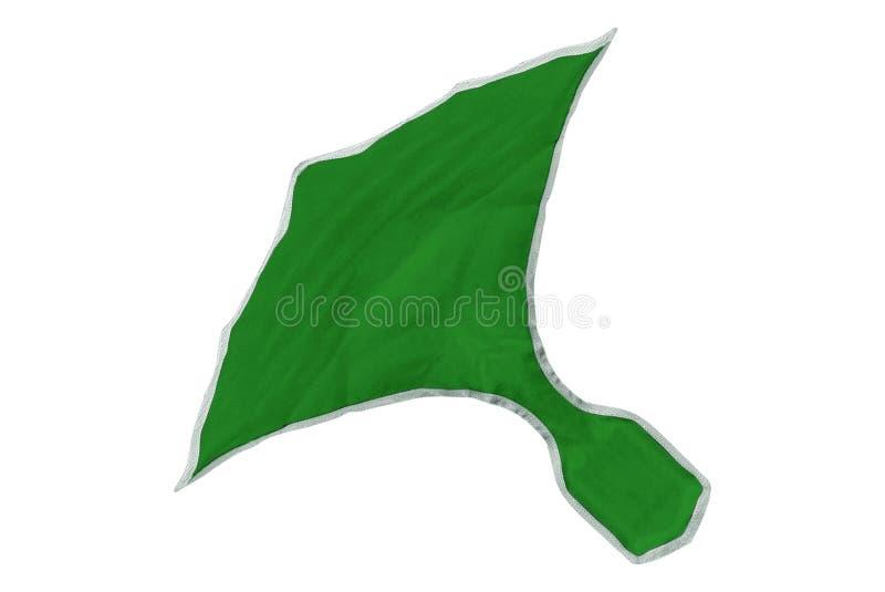Πράσινο κομμάτι μπαλωμάτων υφάσματος που απομονώνεται στοκ εικόνες