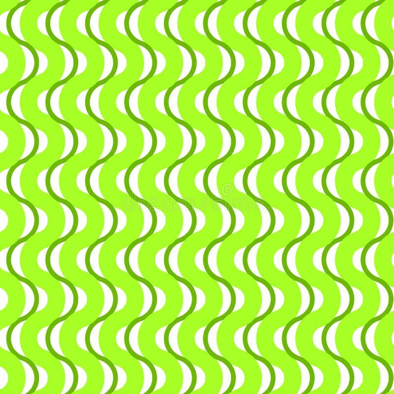 Πράσινο κυματίζοντας άνευ ραφής υπόβαθρο λωρίδων απεικόνιση αποθεμάτων