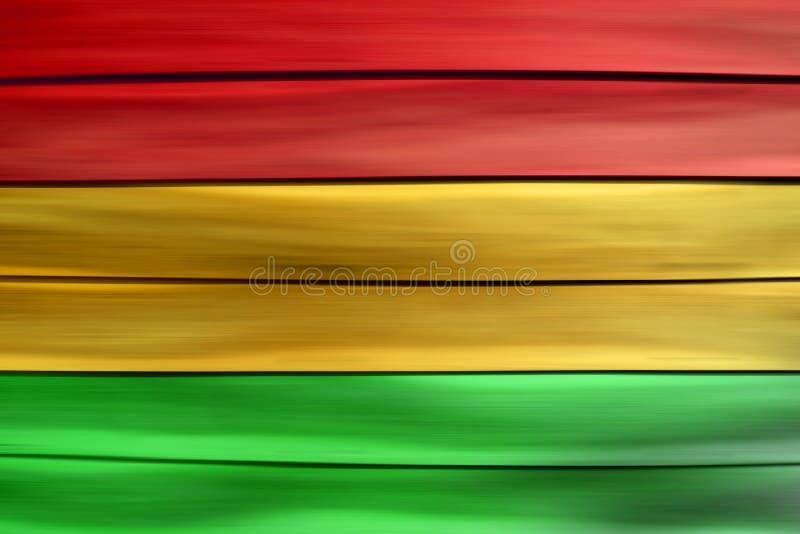 Πράσινο κόκκινο κίτρινο ξύλινο υπόβαθρο φύλλων (ύφος Reggae) στοκ εικόνες με δικαίωμα ελεύθερης χρήσης