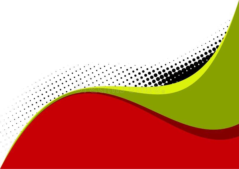 πράσινο κόκκινο λευκό καμπυλών διανυσματική απεικόνιση