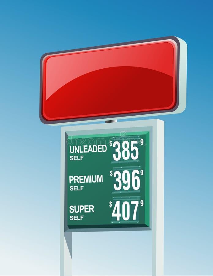 πράσινο κόκκινο σημάδι ενεργειακής βενζίνης απεικόνιση αποθεμάτων