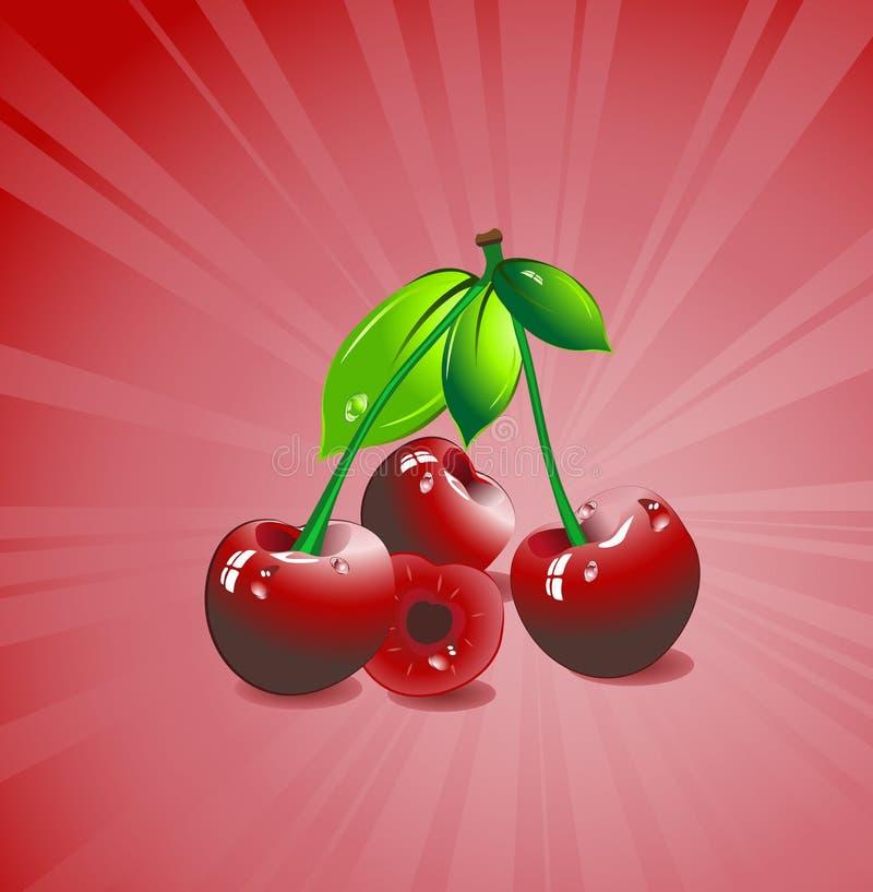 πράσινο κόκκινο τρία φύλλω&nu διανυσματική απεικόνιση