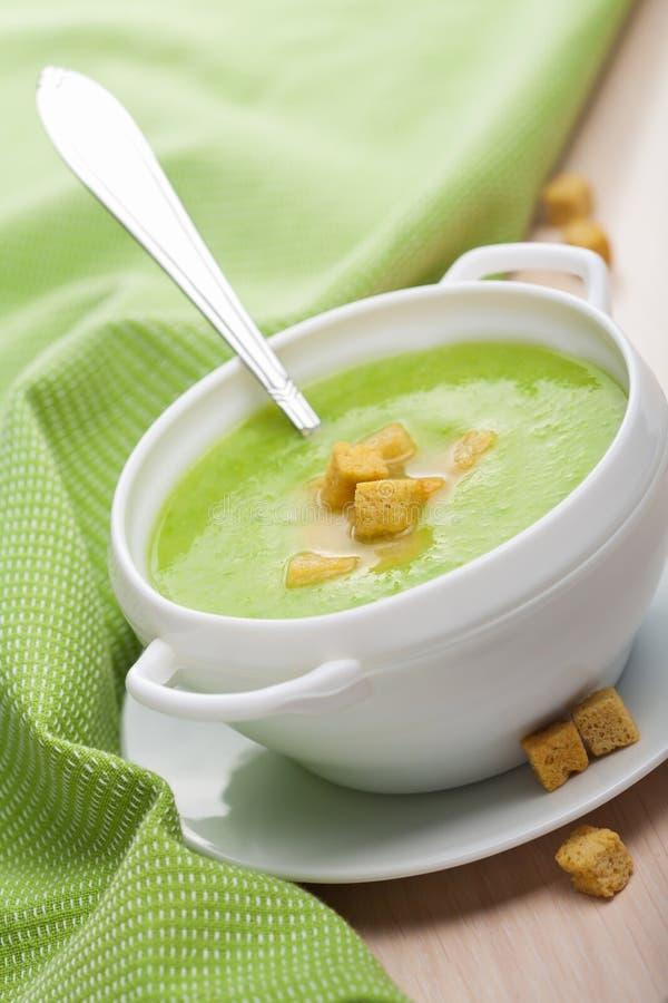πράσινο λαχανικό σούπας στοκ φωτογραφία