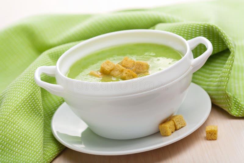 πράσινο λαχανικό σούπας στοκ φωτογραφία με δικαίωμα ελεύθερης χρήσης