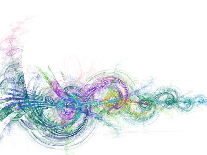 πράσινο λευκό στροβίλο&upsilon διανυσματική απεικόνιση