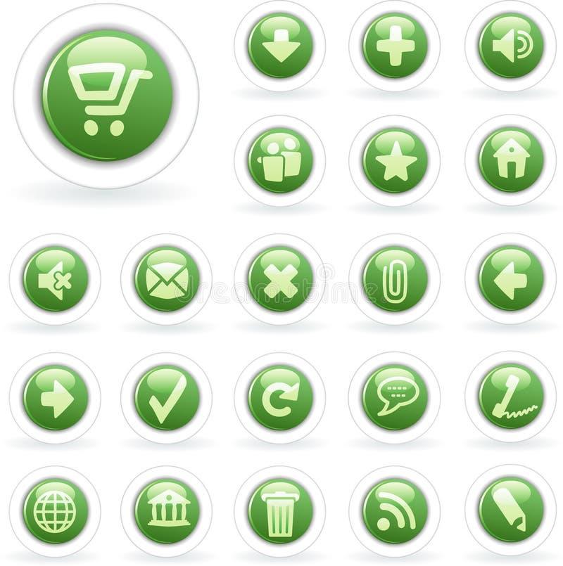πράσινο λευκό φυσαλίδων απεικόνιση αποθεμάτων