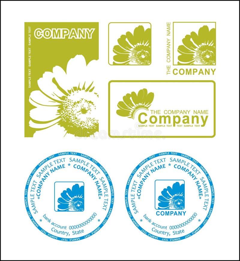 πράσινο λογότυπο λουλ&omicr διανυσματική απεικόνιση