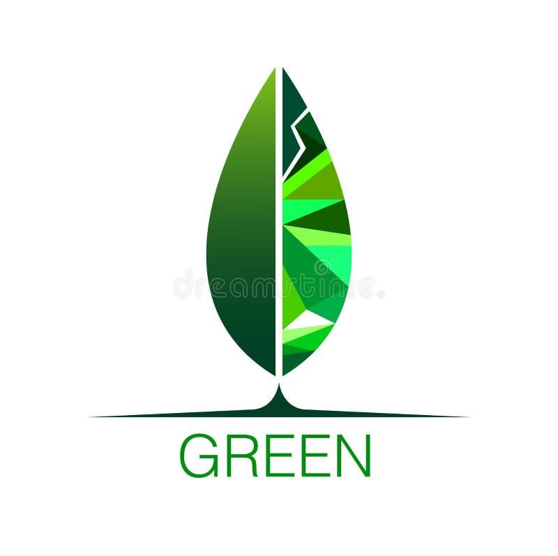 πράσινο λογότυπο φύλλων διανυσματική απεικόνιση