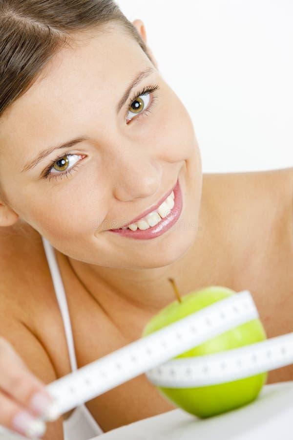 πράσινο μήλου γυναίκα στοκ φωτογραφία με δικαίωμα ελεύθερης χρήσης