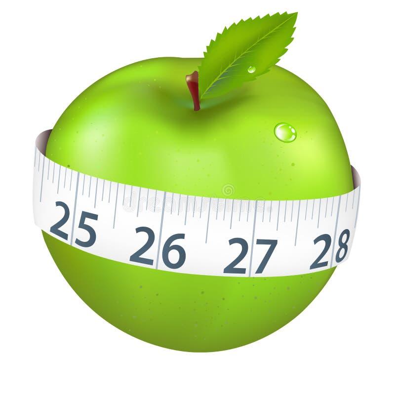 πράσινο μήλου μέτρηση ελεύθερη απεικόνιση δικαιώματος