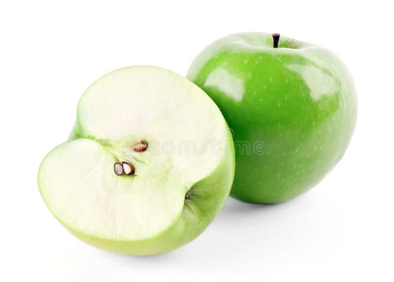 πράσινο μήλου μισός ώριμος στοκ φωτογραφία με δικαίωμα ελεύθερης χρήσης