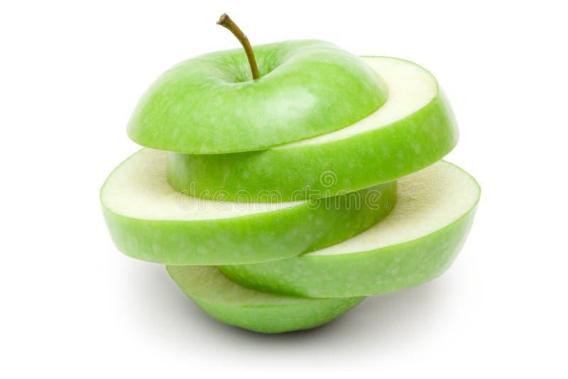 πράσινο μήλου που τεμαχίζ& στοκ φωτογραφία με δικαίωμα ελεύθερης χρήσης