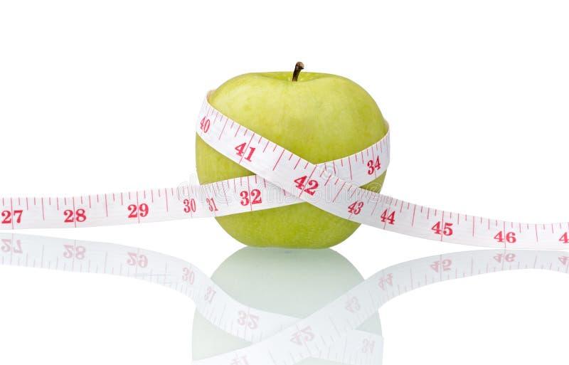 πράσινο μήλου ταινία μέτρο&upsil στοκ φωτογραφίες