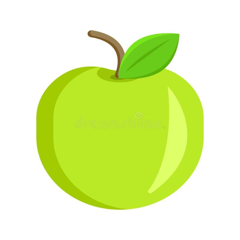 Πράσινο μήλο όρεξης απεικόνιση αποθεμάτων