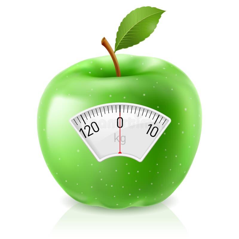 Πράσινο μήλο απεικόνιση αποθεμάτων