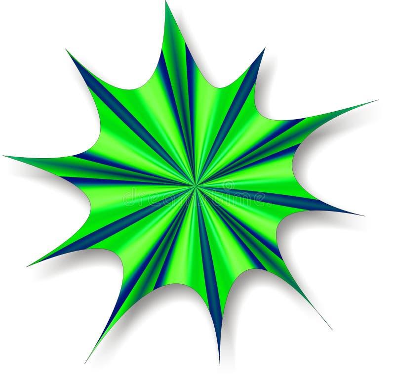 Πράσινο μπλε Splat στοκ φωτογραφία με δικαίωμα ελεύθερης χρήσης