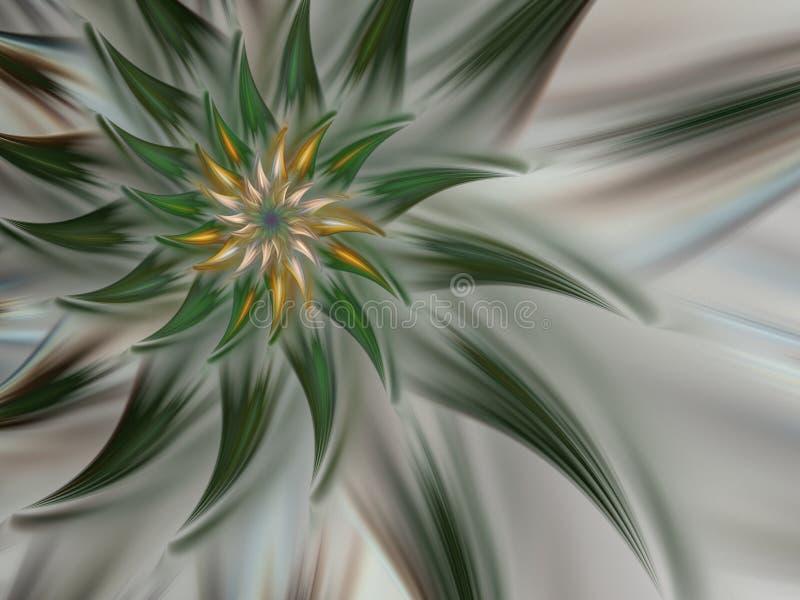 Πράσινο μυστήριο σπειροειδές λουλούδι ελεύθερη απεικόνιση δικαιώματος