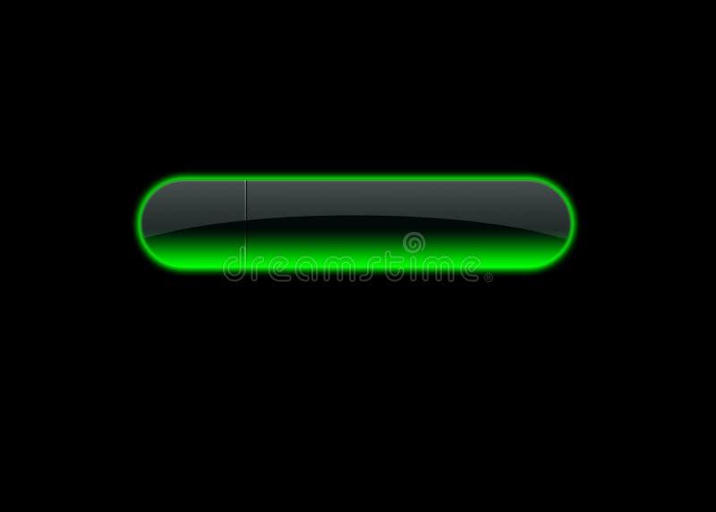 πράσινο νέο κουμπιών ελεύθερη απεικόνιση δικαιώματος