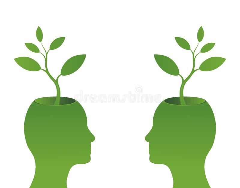 πράσινο να αναπτύξει φυτό κ&epsi απεικόνιση αποθεμάτων