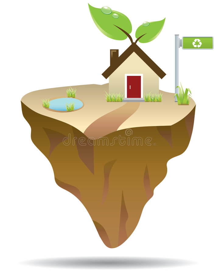 πράσινο νησί απεικόνιση αποθεμάτων