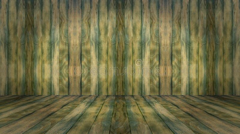Πράσινο ξύλινο υπόβαθρο τοίχων και πατωμάτων στοκ φωτογραφία με δικαίωμα ελεύθερης χρήσης
