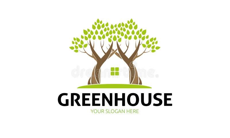 Πράσινο λογότυπο σπιτιών απεικόνιση αποθεμάτων