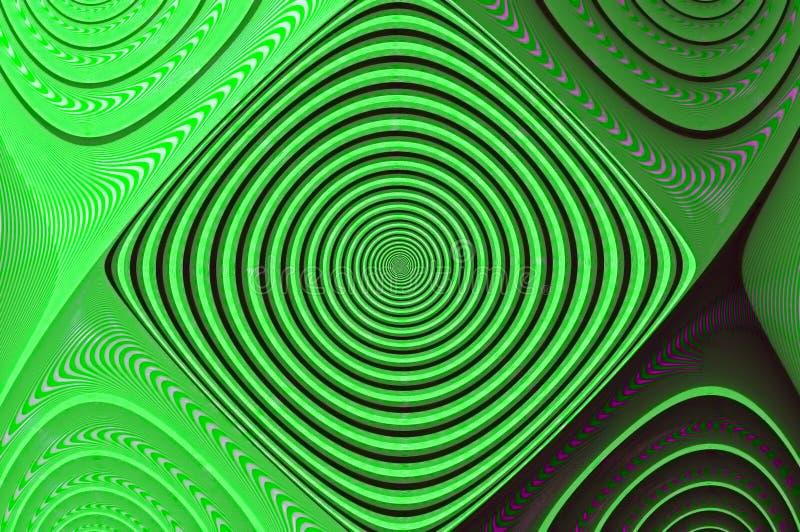 Πράσινο οπτικό ψηφιακό αφηρημένο Fractal παραίσθησης ελεύθερη απεικόνιση δικαιώματος