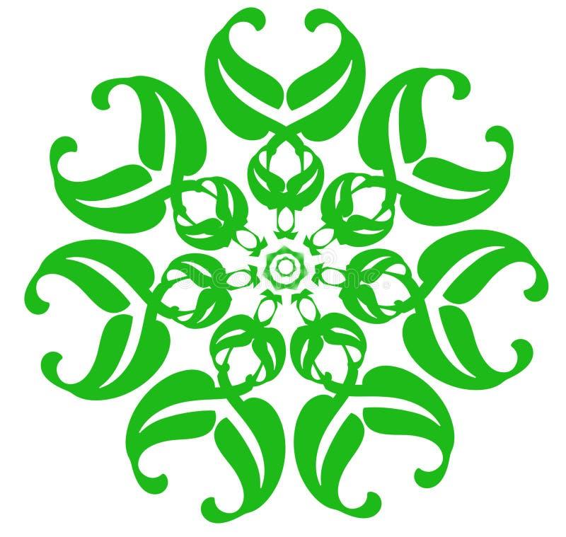 Πράσινο λουλούδι φαντασίας σε ένα άσπρο υπόβαθρο διαθέσιμο μαύρο μπλε να αναπτύξει ανασκόπησης αφήνει στα λωρίδες κόκκινων ανοίξε στοκ φωτογραφία με δικαίωμα ελεύθερης χρήσης