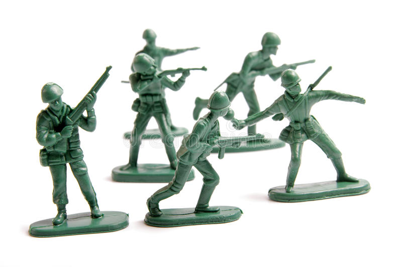 πράσινο παιχνίδι στρατού στοκ εικόνα με δικαίωμα ελεύθερης χρήσης