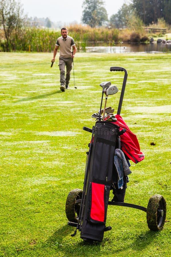 Πράσινο παιχνίδι γκολφ στοκ εικόνες