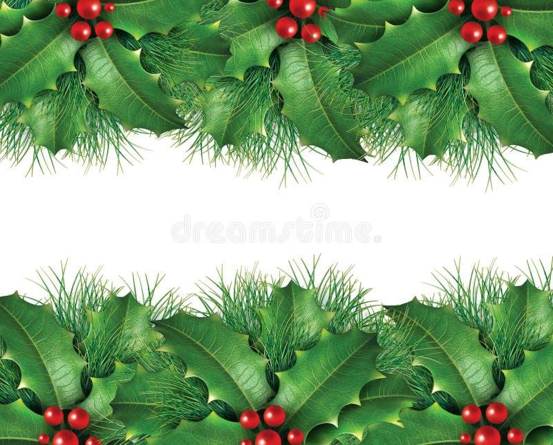 πράσινο πεύκο εικόνας Χρι&si διανυσματική απεικόνιση