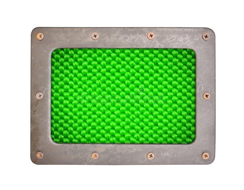 Πράσινο πιάτο υποβάθρου ινών στοκ εικόνες
