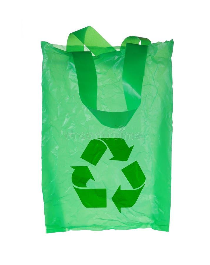 πράσινο πλαστικό ανακύκλ&omega στοκ εικόνες