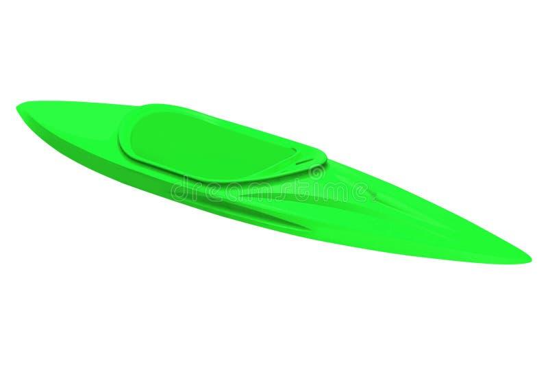Πράσινο πλαστικό καγιάκ που απομονώνεται στο λευκό στοκ εικόνες με δικαίωμα ελεύθερης χρήσης