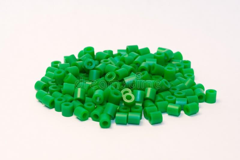 πράσινο πλαστικό χαντρών στοκ εικόνες