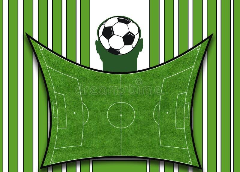 πράσινο ποδόσφαιρο ανασκ απεικόνιση αποθεμάτων