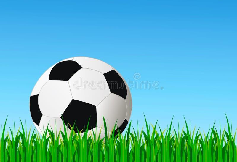 πράσινο ποδόσφαιρο χλόης &sig απεικόνιση αποθεμάτων