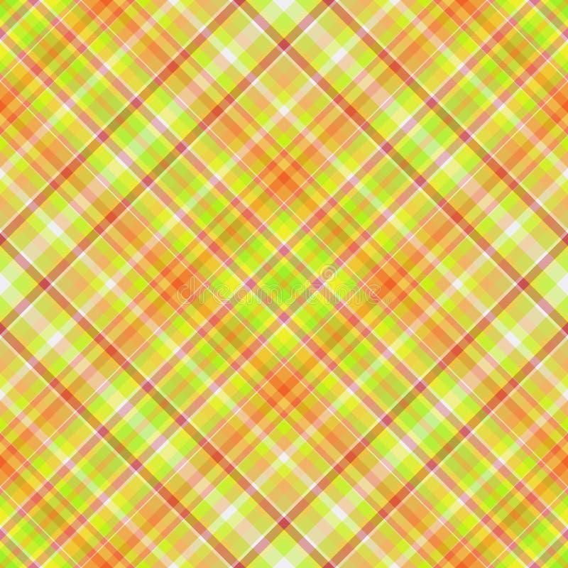 πράσινο πορτοκαλί plaid απεικόνιση αποθεμάτων