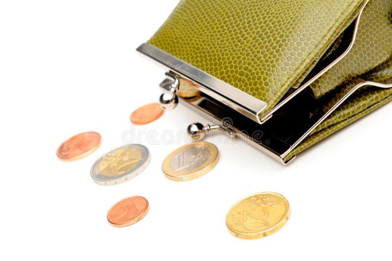 πράσινο πορτοφόλι νομισμάτ στοκ φωτογραφίες με δικαίωμα ελεύθερης χρήσης