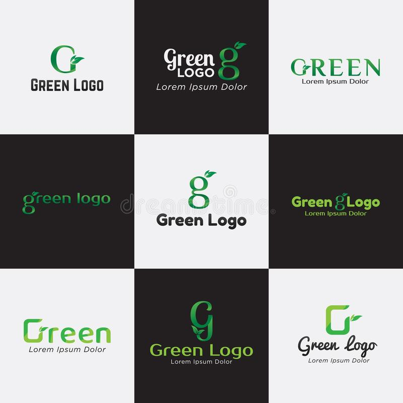 Πράσινο πρότυπο δεσμών λογότυπων για την επιχείρηση, την επιχείρηση, Asssociation, την Κοινότητα, και το προϊόν απεικόνιση αποθεμάτων
