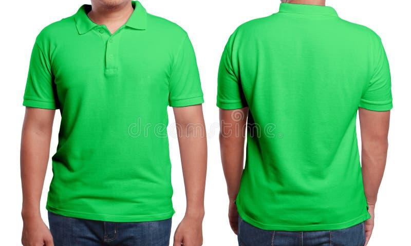 Πράσινο πρότυπο σχεδίου πουκάμισων πόλο στοκ εικόνα